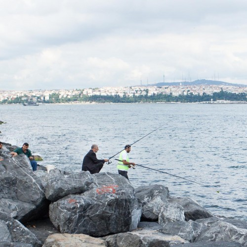 Fishing on the Bosphorus River
